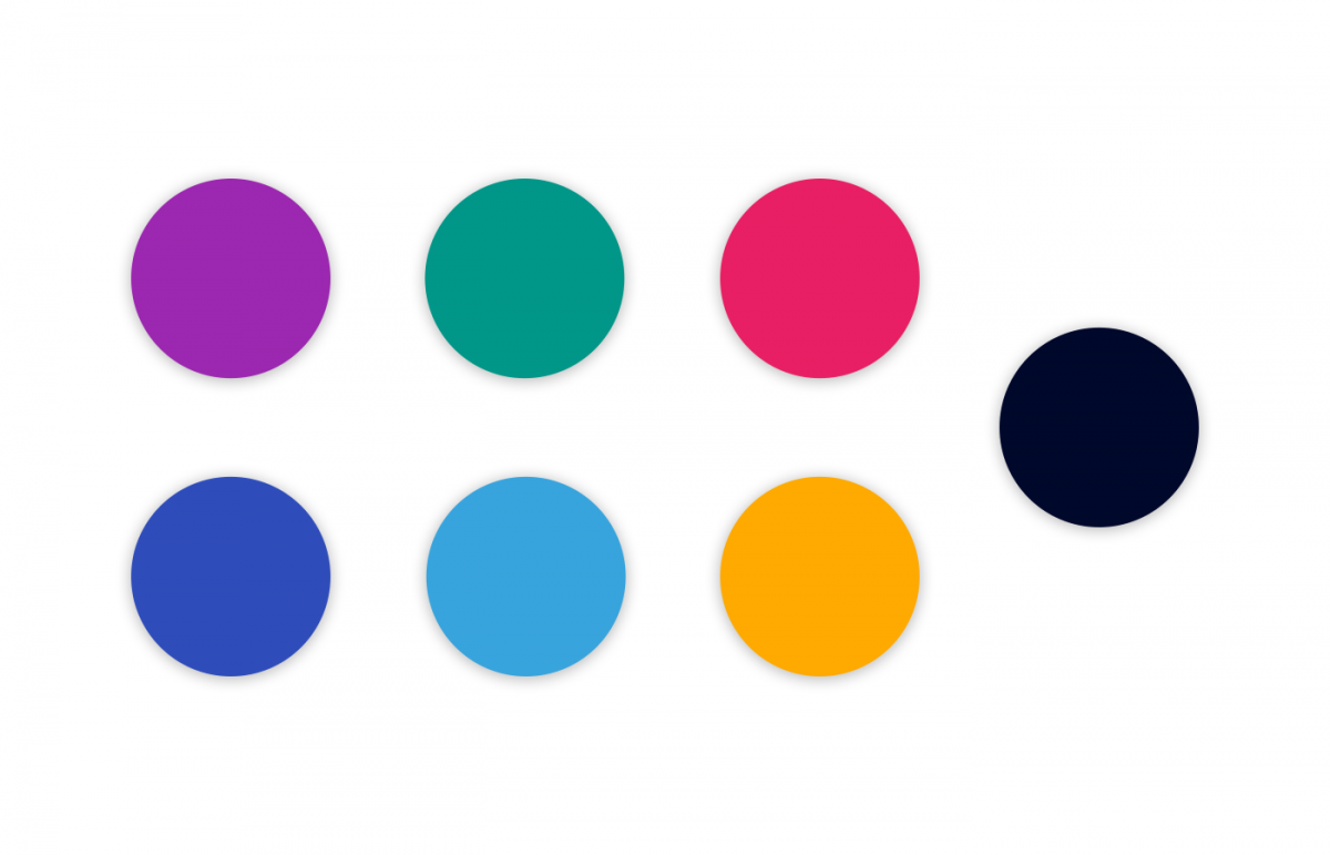 Swatches of the color palette I co-developed for MarTechExec